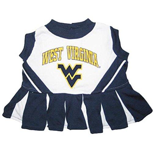 Pets First Collegiate West Virginia University Dog Cheerleader Outfit, Medium