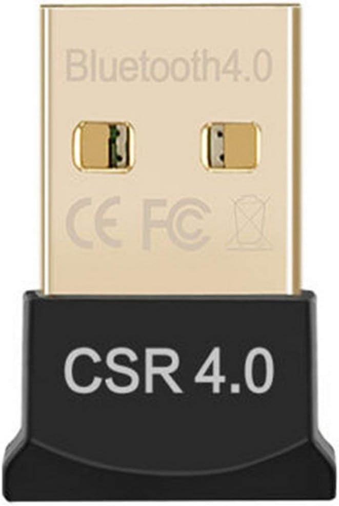 Gugutogo Adaptador de dongle USB 2.0 CSR 4.0 sin Unidad Plug and Play portátil inalámbrico HD estéreo o Receptor para PC portátil