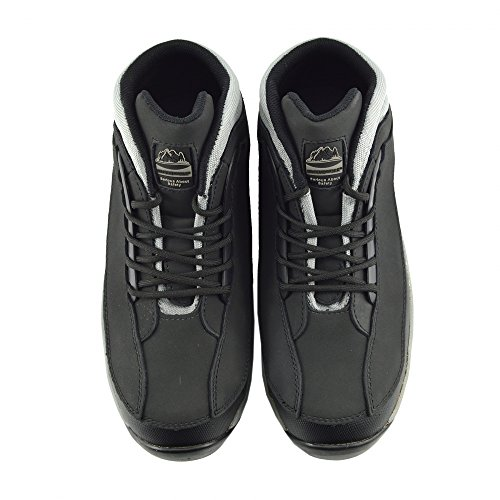 Kick Footwear Herren Komfort Arbeit Sicherheit Stiefel Stahl Toe Cap Wasserdichtes fundament Schwarz