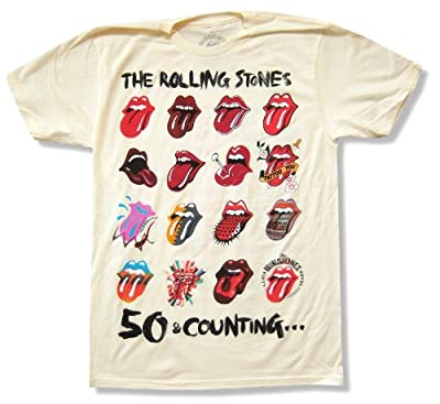 "Bravado Men's The Rolling Stones ""Tongue Evolution"" Tour T-Shirt"
