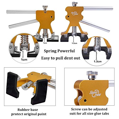 Super PDR 40pcs New Auto CAR Body Restore Tool Dent Repair Tools PDR Puller Gold Dent Lifter Puller Tabs by Super PDR (Image #4)