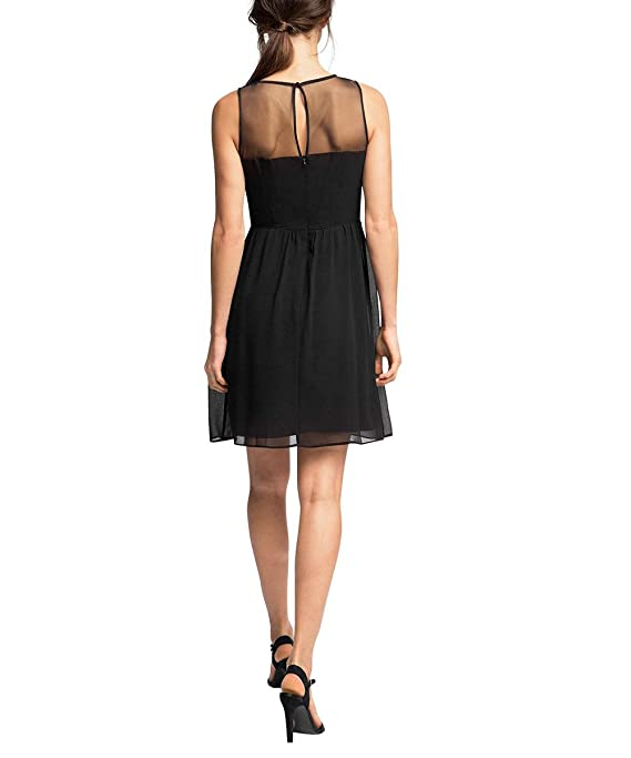 ESPRIT Collection Women's A-Line Sleeveless Dress - Black - 10:  Amazon.co.uk: Clothing
