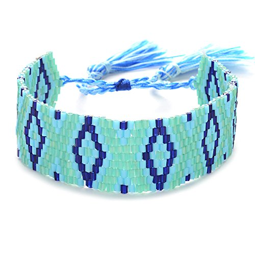 Ginger Snap Bohemia Sead Beaded Bracelets Handmade Woven New Women Jewelry Cuff Friendship Gift (18MM-C)