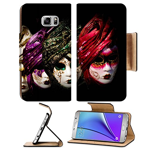 Liili Premium Samsung Galaxy Note 5 Flip Pu Leather Wallet Case Venetian carnival masks Italy Photo 24927908 Simple Snap Carrying (Simple Venetian Costumes)