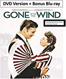 Gone With The Wind: 75th Anniversary Special Edition DVD + Bonus Blu-ray Version - Uncut and Unedited Movie with…