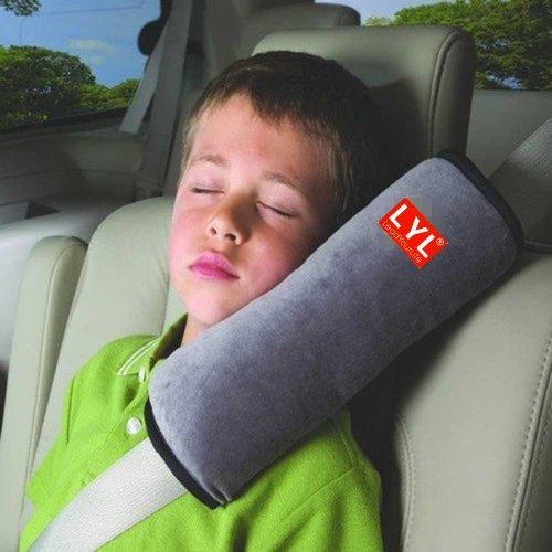 Booster Seat Pillow - LYL Children Baby Soft Headrest Neck Support Pillow Shoulder Pad for Car Safety Seatbelt