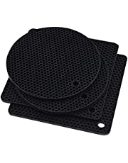 Silicone Trivet Mat for Hot Pan and Pot Hot Pads Counter Mat Heat Resistant Table Dish Drying Mat or Placemats