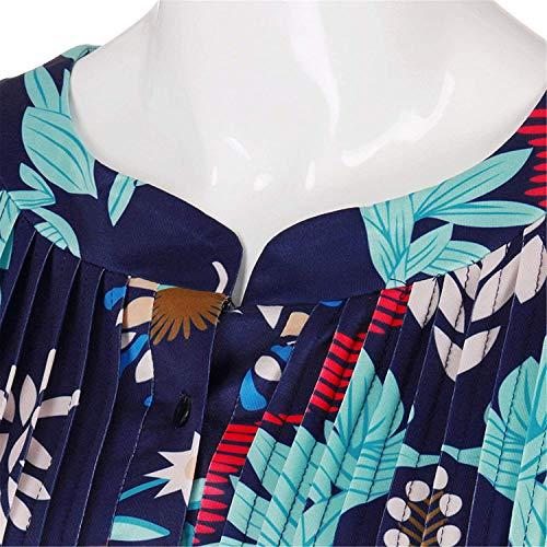 Button Printemps Plier Tshirt lgant De Haute Himmelblau Mode Qualit Col Costume Chic 4 Rond Femme Casual Shirt Tops Modle Slim 3 T Manches Fit Shirt Impression 6Y1IYqrwA