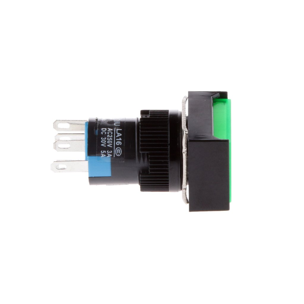 Monkeyjack Push Button Switch 20pack Led Illuminated Square Shape Dc5v To Dc30v Converter By 74hc14 Momentary Self Reset Electric Circuit Ac 250v 3a