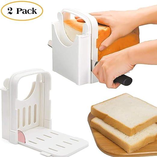 Guía para cortar pan, rebanador de pan tostadora guía de corte de ...