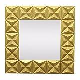 BENZARA Gilded Wood Framed Mirror - Benzara / BM122179 /