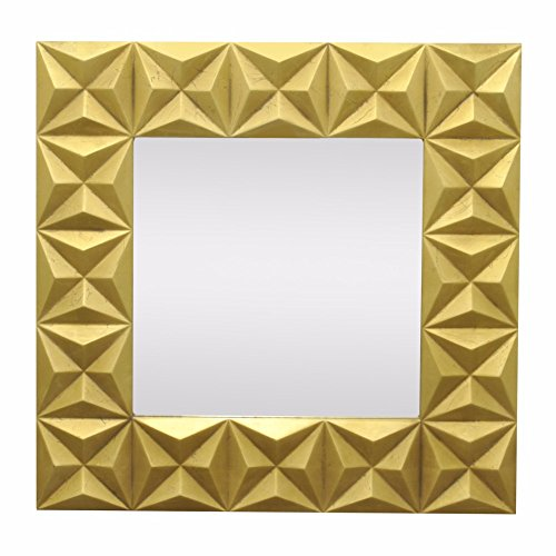 BENZARA Gilded Wood Framed Mirror - Benzara / BM122179 / by Benzara
