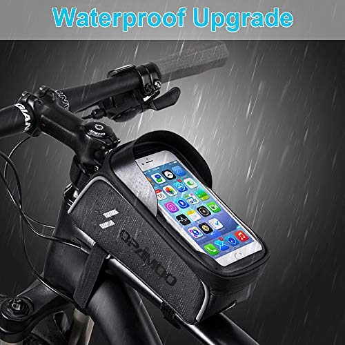 Bike Phone Front Frame Bag – Waterproof Bicycle Top Tube Cycling Phone Mount Pack Phone Case for 6.5'' iPhone Plus xs…