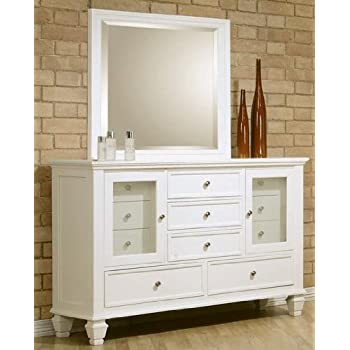 Amazon Com Coaster Co 201303 04 Dresser White Kitchen