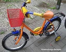 Land-Haus-Shop - Cesta Delantera de Bicicleta de Metal Pintado, Color Rojo: Amazon.es: Deportes y aire libre