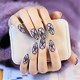 echiq Fashion transparente mate uñas postizas punta Lady acrílico falsos Kit de uñas 24pcs con doble