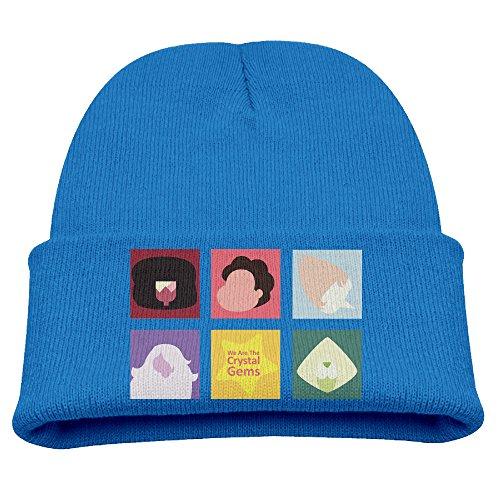 Babala Steven Universe Child Knitted Beanie Cap Hat Skull Slouchy Cap Hat RoyalBlue (Ralph Lauren Baby Boy Beanie)