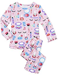 Baby Girls' Cozy Ruffled Relaxed Fit Pajama Set