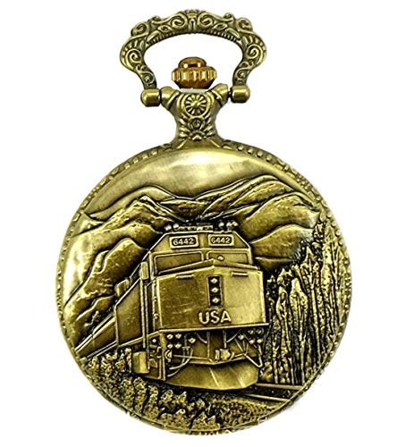 North American Railroad Approved Railway Regulation Standard,Train Pocket Watch 150th Spike Aniversary #4 Passenger Unit F40PH (Pocket Train Watches Men For)