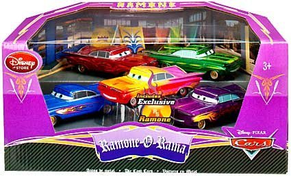 Disney / Pixar CARS Movie Exclusive 1:43 Die Cast Car 5 Piece Set Ramone-O-Rama - Exclusive Disney Pixar Cars