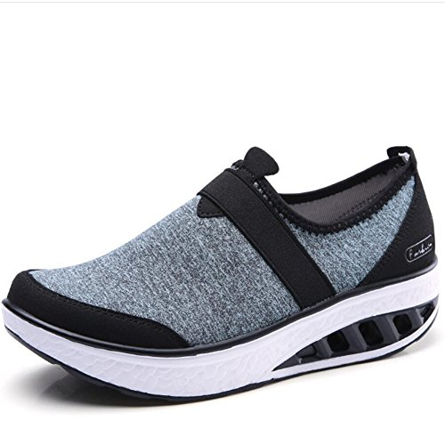XUE Women's Shoes Cloth Spring Fall Loafers & Slip-Ons Driving Shoes Fitness Shake Shoes Shake Shoes Shaking Shoes Flat Loafers Sneakers Athletic Shoes Platform Shoes (Color : E, Size : 41) D