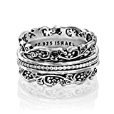 #10: Paz Creations .925 Sterling Silver Spinner Ring with Silver Spinners, Made in Israel