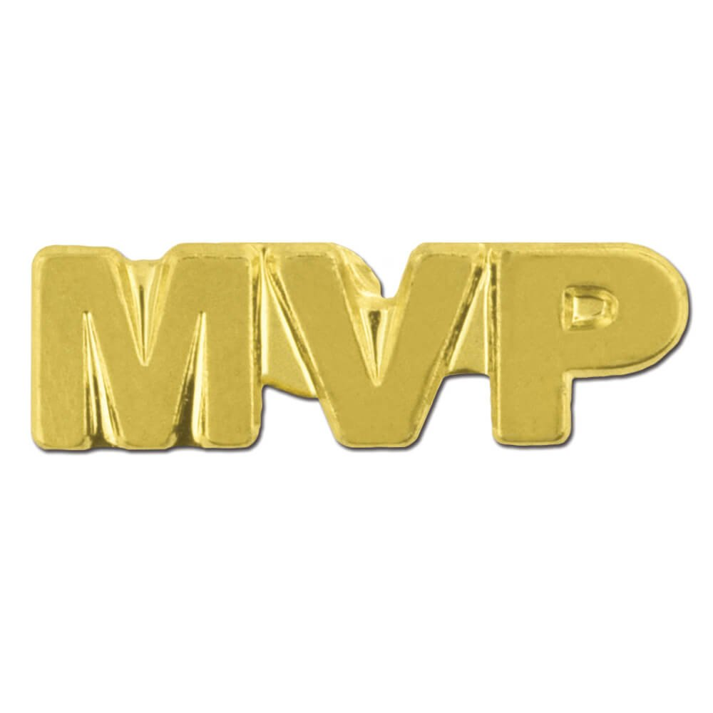 MVP Most Valuable Player Chenille 3/4'' Lapel Pin
