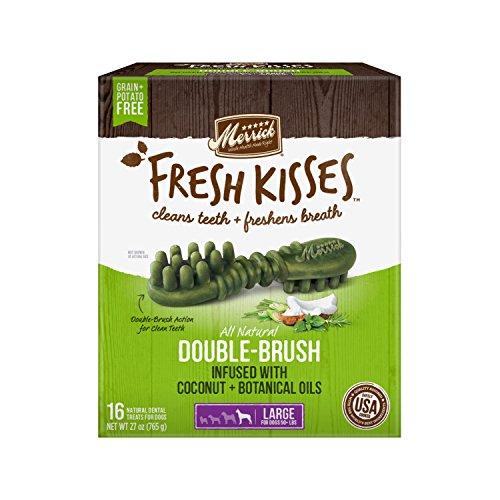 Fresh Kisses Coconut Oil + Botanicals Large Brush - Value Box (16 Ct) (Best Type Of Coconut Oil For Dogs)