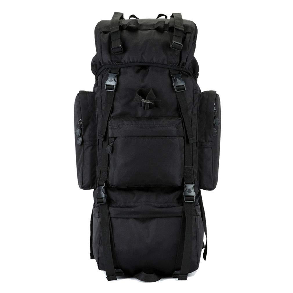レインカバーとアルミフレーム自転車ハイキングリュックサックで70 / 100L登山バックパック防水軽量 B07PM4NJZZ black 100L