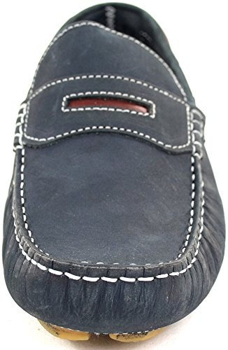 Men's Leather Casual / Formal Slip On Boat / Deck Loafer / Moccasin Shoes Navy wLU6zZC