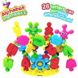 FAVTOY ISLAND - 32 Pieces Educational Alphabet Learning Baby Rattle Blocks Set for Toddlers