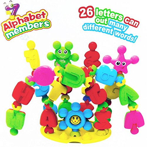 FAVTOY ISLAND - 32 Pieces Educational Alphabet Learning Baby Rattle Blocks Set for Toddlers by FAVTOY ISLAND