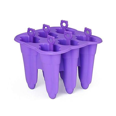 Winice Moldes para Helados de Hielo, Silicone Popsicle Moldes para Cubitos de Hielo