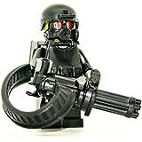 Heavy Support Gunner Minigun Soldier - Modern Brick Warfare Custom Minifigure