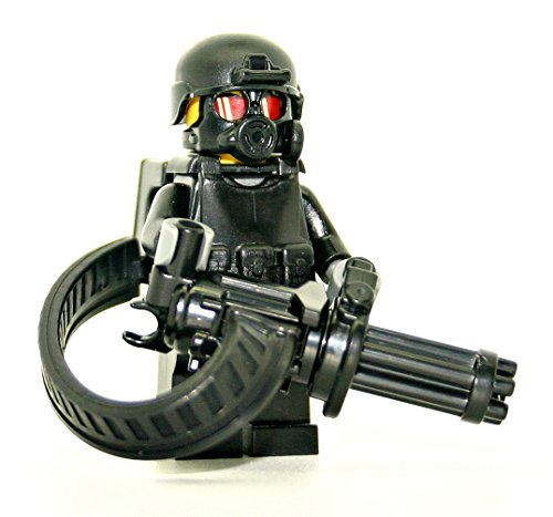 (Heavy Support Gunner Minigun Soldier - Modern Brick Warfare Custom Minifigure )