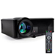 Pyle-Home PRJLE33 Portable LED Projector for Gaming TV Shows Movies and at Upto 100-Inch