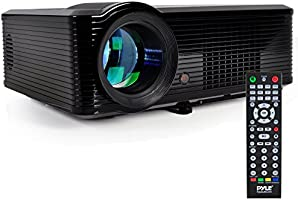 Pyle Home PRJLE33 Portable LED Projector for Gaming TV Shows Movies and Sports at Upto 100 Inches