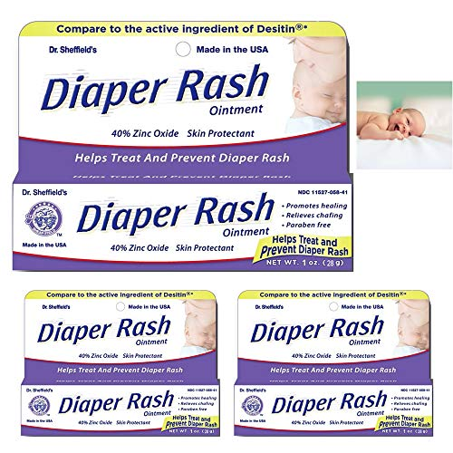 - 3 Pack Diaper Rash Ointment Tube Cream Paste 40% Zinc Oxide Relief Prevent 1 oz