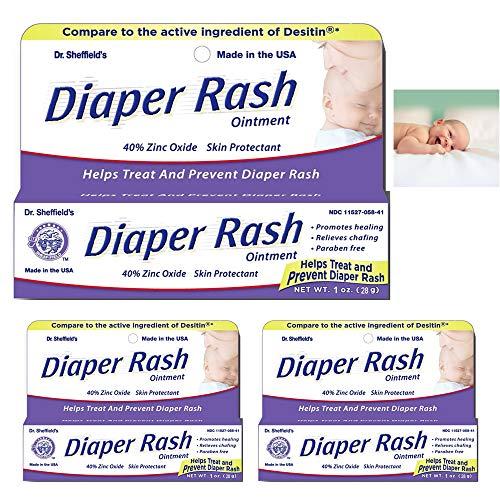 - 3 Pack Diaper Rash Ointment Tube Cream Paste 40% Zinc Oxide Relief Prevent 1 oz