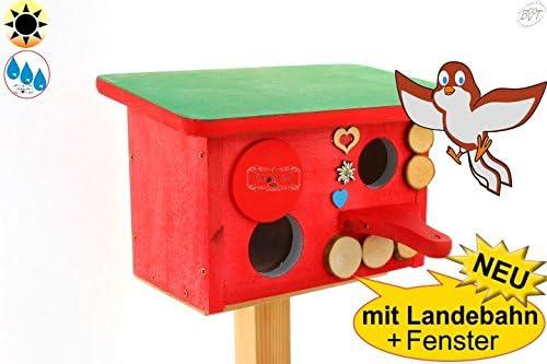 NIST cueva NIST hogar, caja Nido para pájaros en Bayern Deko Diseño, agujero aprox. 33 – 35
