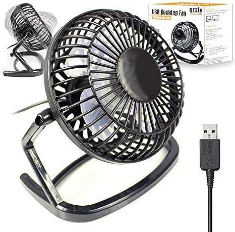 Orzly Ventilador USB - Mini Ventilador de Mesa Portátil Rotación 360º Pequeño y Potente Ventilador Silencioso para Hogar y Oficina – Negro: Amazon.es: Informática