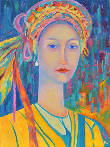 [Polish folklore Poland artwork Painting CANVAS PRINT Girl in traditional dress] (National Costume Of All Countries)