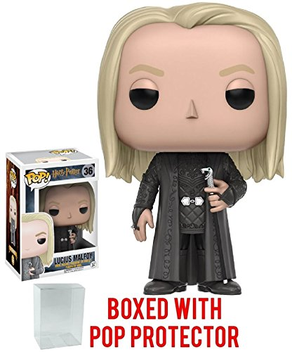 Funko Pop! Movies: Harry Potter - Lucius Malfoy #36 Vinyl Figure (Bundled with Pop BOX PROTECTOR CASE)