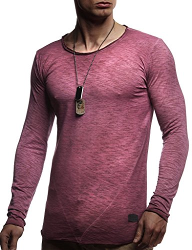 Longue Leif Des Rond Sweater Col Hoodie Sweatshirt Basic Hommes Manche Shirt Oversize Nelson Pourpre Pour Pullover Ln6302 Hoody Longsleeve 7CC4q