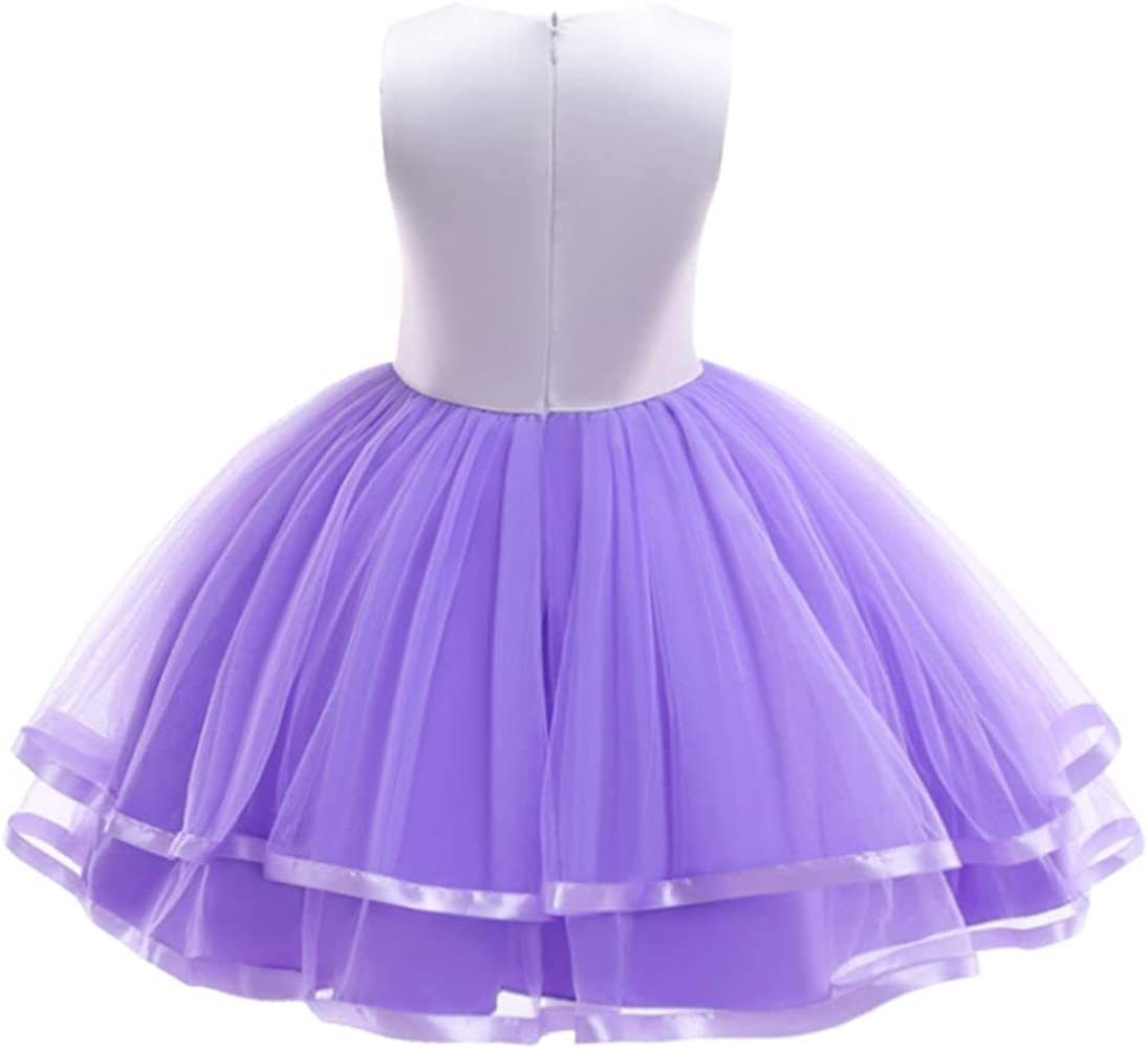 HenzWorld Little Girls Dresses Outfits Unicorn Costume Clothes Princess Dress Up Birthday Party Jewelry Accessories 3-7 Years