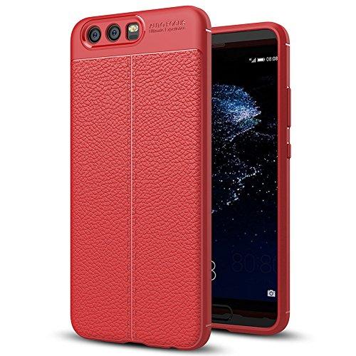 """Huawei P10 (5.1"""") Hülle, MSVII® Anti-Shock Weich TPU Silikon Hülle Schutzhülle Case Und Displayschutzfolie für Huawei P10 (5.1"""") - Rot / RED JY90086"""