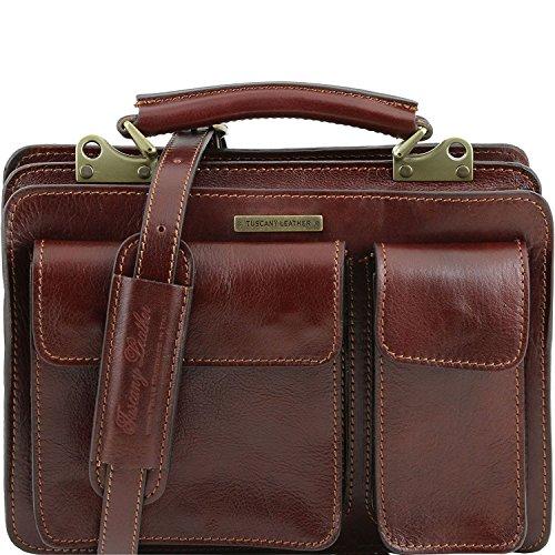 5 a Borsa mano Marrone Leather Tuscany TL141270 Testa pelle Moro donna da Tania in di tqEgnwO