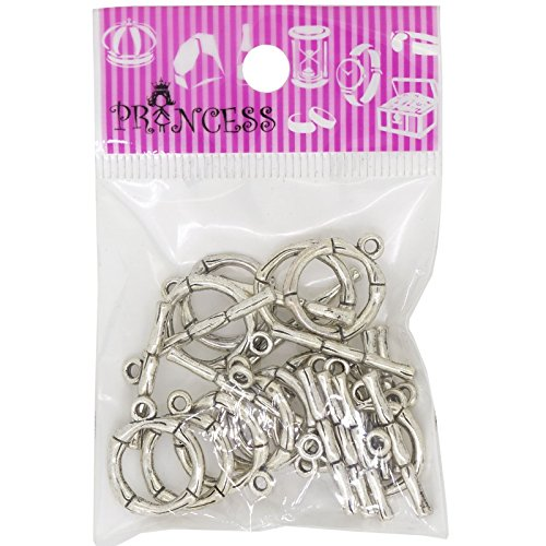 Alloy Bar & Ring Toggle Clasps, Antique Silver, for Jewelry Bracelet Necklace Making, Pack of (Cord Toggle Bracelet)