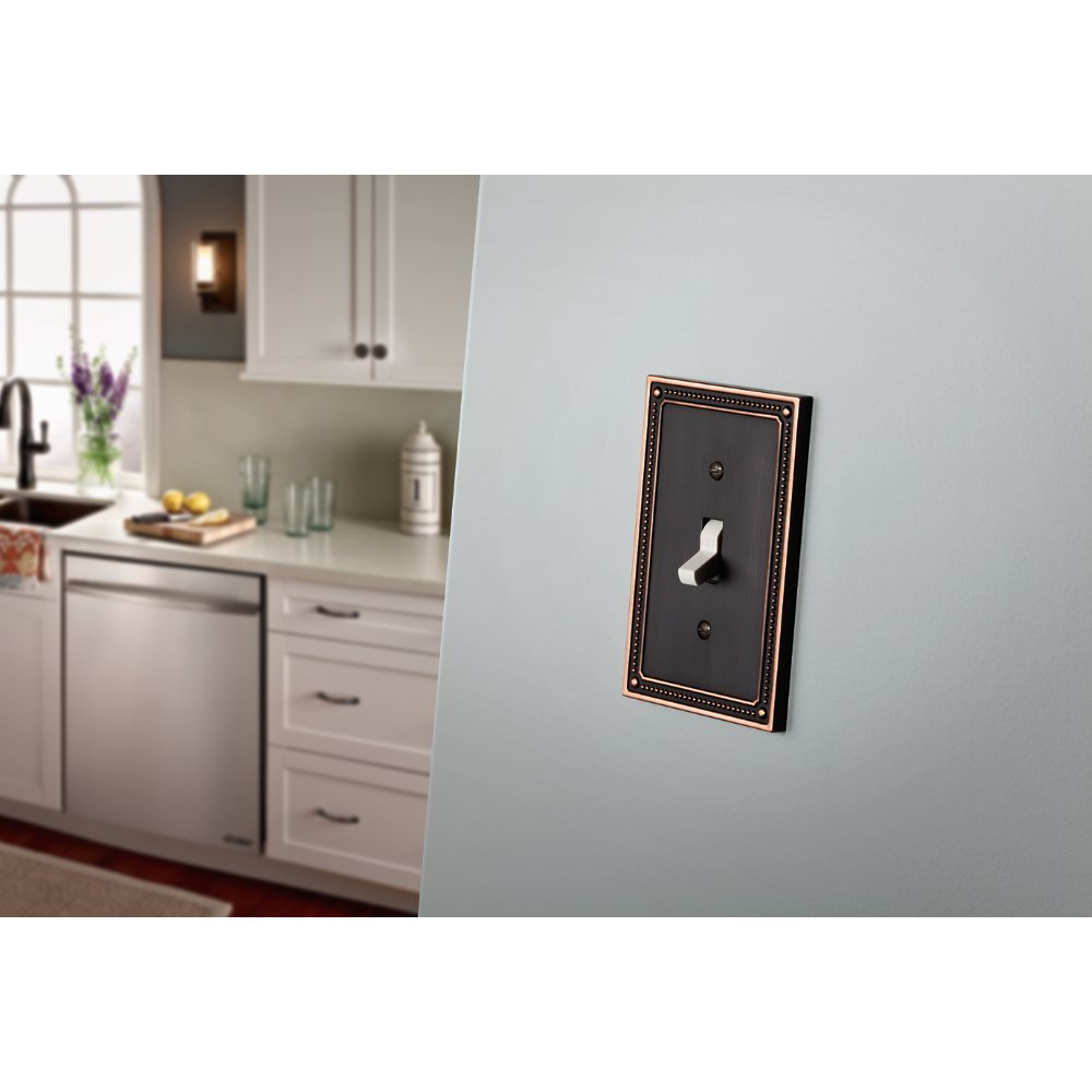 Franklin Brass W35064-VBC-C Classic Beaded Double Duplex Outlet Wall Plate / Switch Plate / Cover, Bronze with Copper Highlights by Franklin Brass (Image #2)