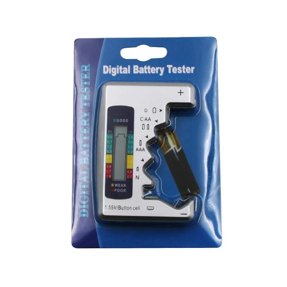 iwobi Digital Universal Battery Tester pour Pile Bouton AAA//AA//C//D 1,5 V-9 V Mini Batteries